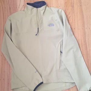 North Face women's quarter zip S jacket yellow